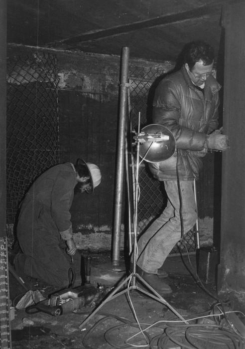 Max Neuhaus (R) - Times Square (underground construction 1977)