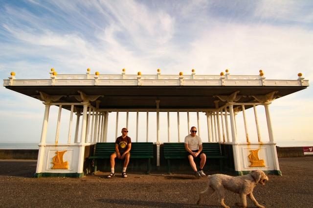 Slippery People - Julian Tardo (L) and David Best. Photograph by Kirsty Yates and Julian Tardo.